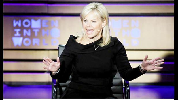 In this April 6, 2017, file photo, former Fox News person Gretchen Carlson speaks during the Women in the World Summit at Lincoln Center in New York. The AP reported July 21, 2017, that a story claiming Carlson said the Second Amendment was written before guns were invented is a hoax.(AP Photo/Richard Drew, File)