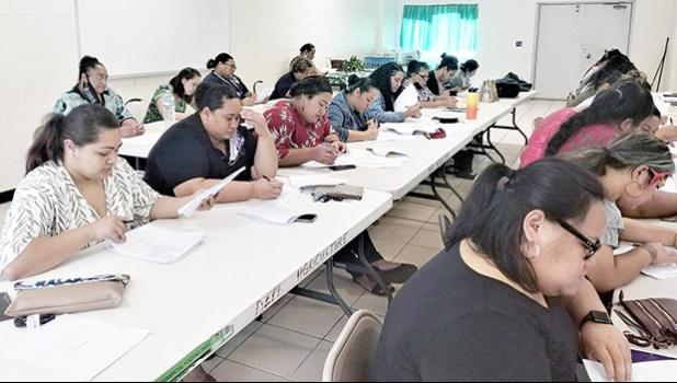 Participants in one of the classes for Notary Public certification