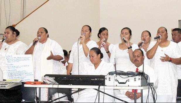 Members of the CCCAS Nu'uuli Choir
