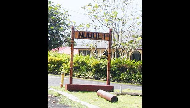 Nu'uuli Village Sign.