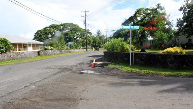 A road in Ottoville, American Samoa