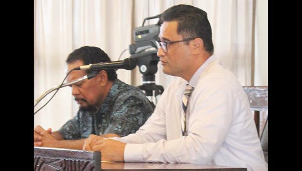 Chief Immigration Officer, Peseta D. Fuimaono (left) and then-Attorney General Talauega Eleasalo V. Ale