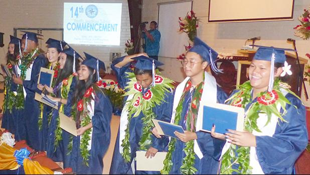 Pacific Horizons Class of 2019 during their graduation ceremony
