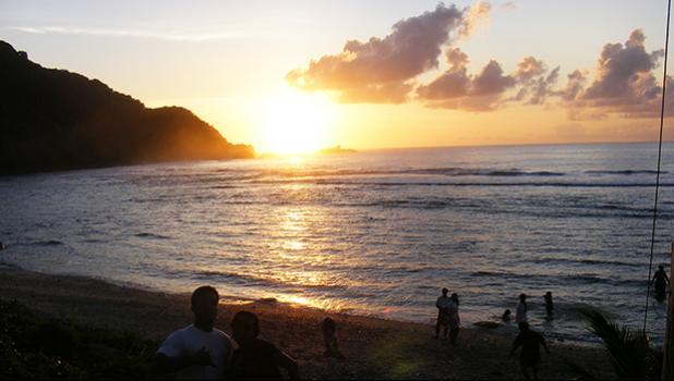 Poloa sunset, Dec. 31, 2011.