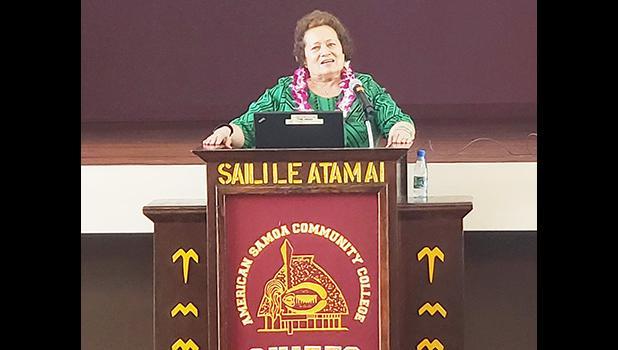 Aumua Amata in a file photo speaking at ASCC