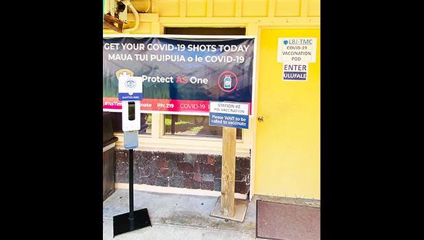 Covid-19 vaccine sign at LBJ hospital