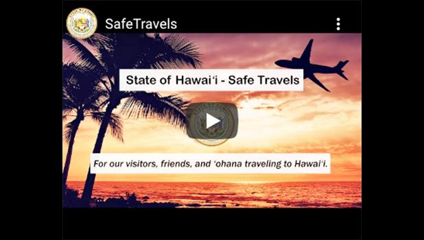 Safe Travels Hawaii graphic