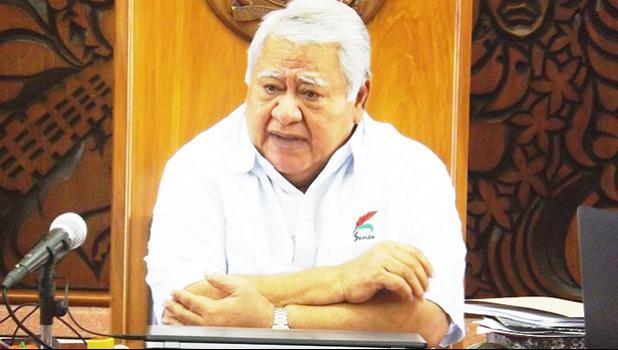 The Prime Minister of Samoa Tuilaepa Aiono Sailele Malielegaoi. [Photo: RNZI/Autagavaia Tipi Autagavaia]