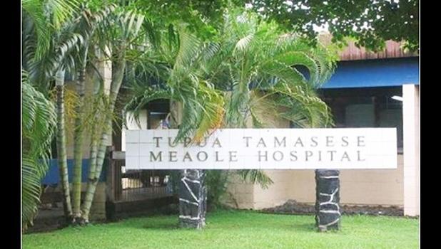 Tupua Tamasese Meaole Hospital sign