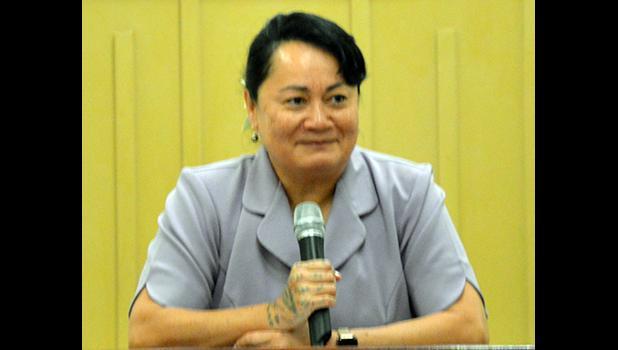 Sandra King-Young testifying at the hearing