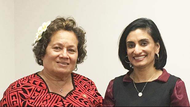Congresswoman Amata with Centers for Medicare and Medicaid Administrator Seema Verma,
