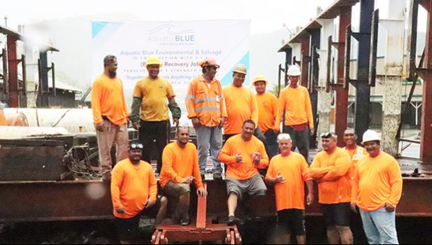 Mike Pulu, Hymal Vaimaona, Aquatic Blue Environmental and the shipyard crew