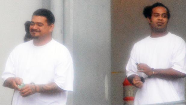 Co-defendants Elliott Siaumau Jr (front) and Eddieboy Va'avale