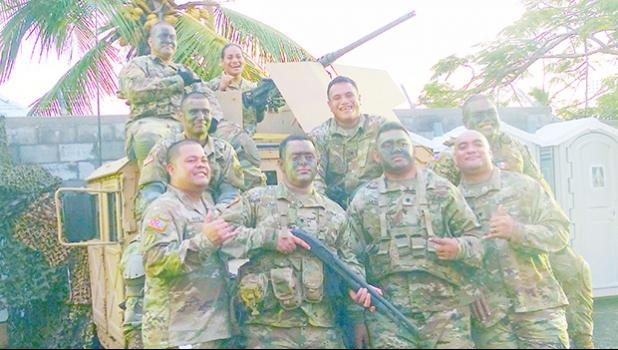Solders of the local US Army Reserve unit