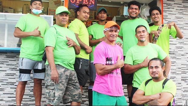 Crew members of StarKist Samoa's Sanitation Department pose for a photo
