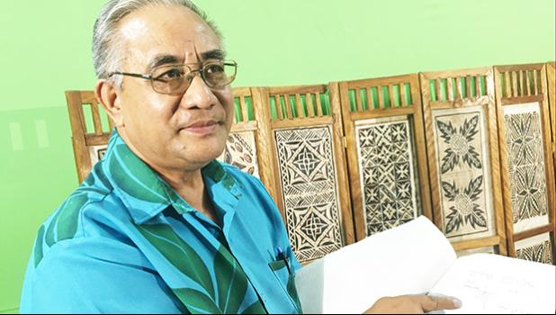 Former Congregational Christian Church of Matautu, Falelatai Elder Reverend Opapo Oeti following a press conference with the Samoa Media in July of last year.  [Photo: JL]