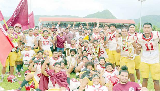 The 2020 ASHSAA Football Champs — Tafuna High School