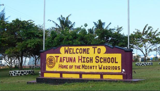 Tafuna High School sign