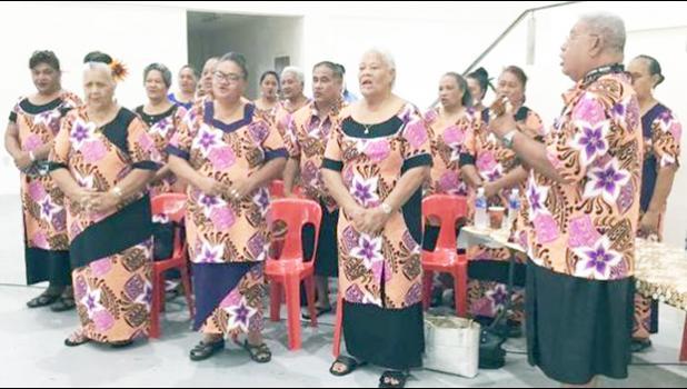Senior citizens singing