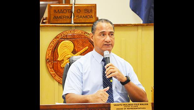 Marine and Wildlife Resources (DMWR) director, Taotasi Archie Soliai