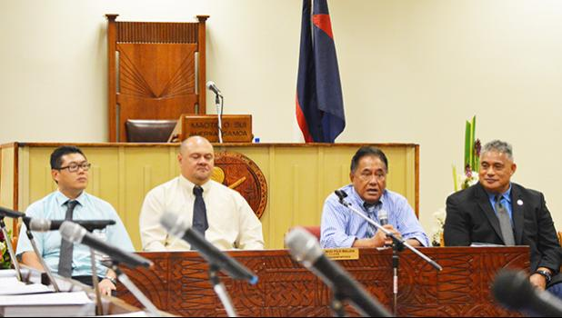 Some members of the American Samoa COVID-19 Task Force appeared before the House Health Committee recently