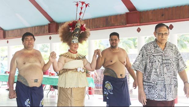 Taupou Tulimalefo'i,Rev. Mageo Patolo Mageo,members of the Pago Pago Aumaga