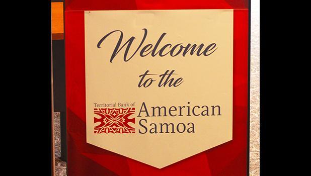 Territorial Bank of American Samoa sign