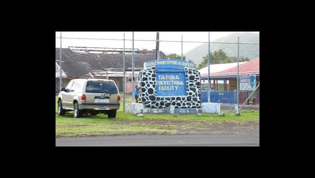 TCF — Territorial Correctional Facility sign