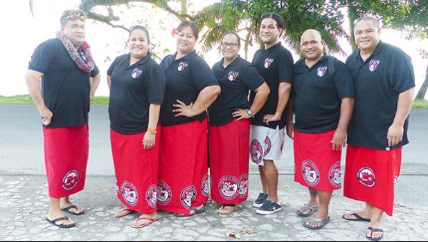 Fagaitua High School teachers after presentation