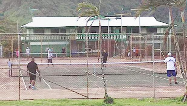 Tennis players at Lions Park