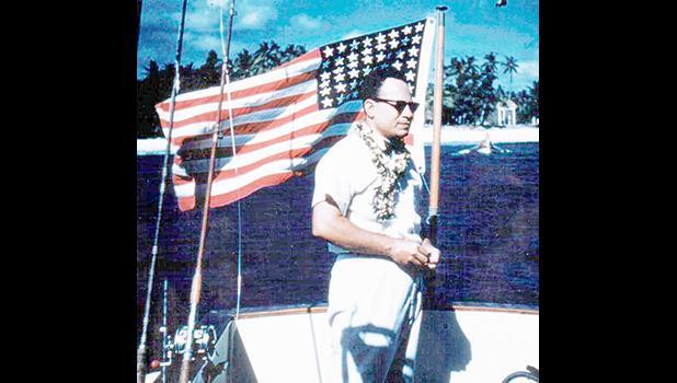 1957 photo of Gov. Uifa'atali Peter T. Coleman in Tutuila
