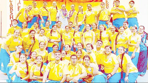 Members of the Tafuna High School's National Honor Society