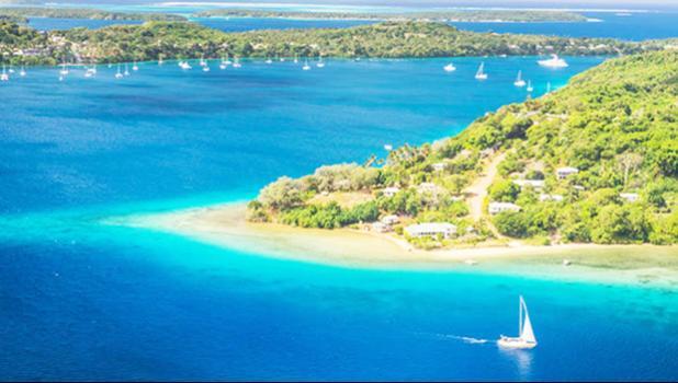 An anchorage in Tonga