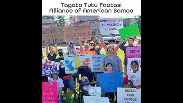 TTFAAS supporters with signs