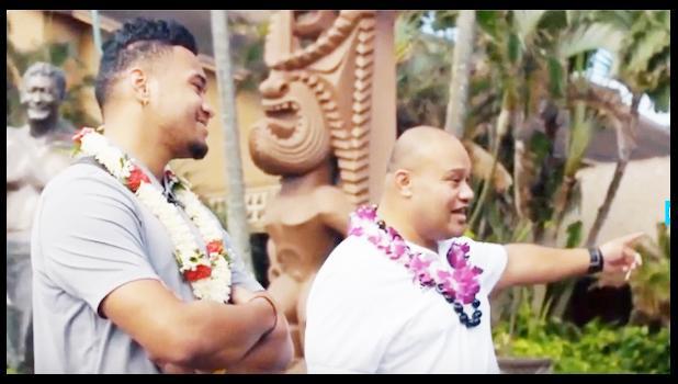 Tua and his dad, Galu