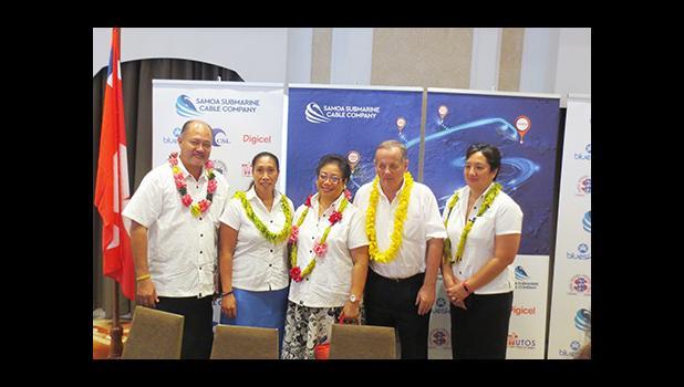 Members of the SSCC Board during the signing of an agreement between Samoa, Fiji Wallis & Futuna and Vanua Levu, Fiji,  (Photo JL)