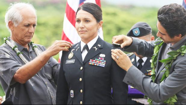 Congresswoman Tulsi Gabbard during 2015 promotion ceremony
