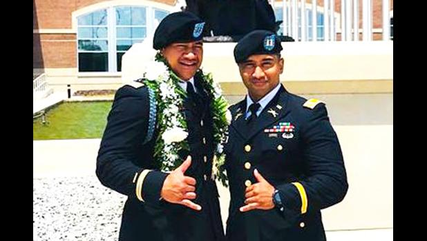 Cpt. Samuelu Eli Wells and Cpt. Mel Meaole, Jr. — both stationed at Fort Benning, GA — recently completed the MCCC course and they couldn't be more proud and thankful for their success.   [courtesy photo]