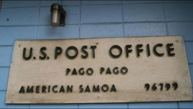 Pago Pago USPS sign