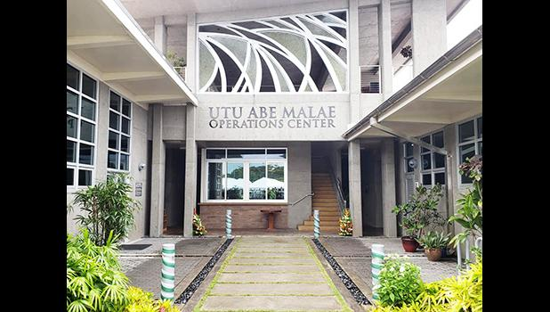 """Pictured is the """"Utu Abe Malae Operations Center"""""""