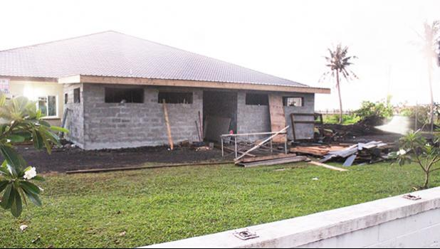 Extension under construction at VA Center in Tafuna