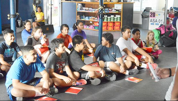Youth at first meeting for summer water sports