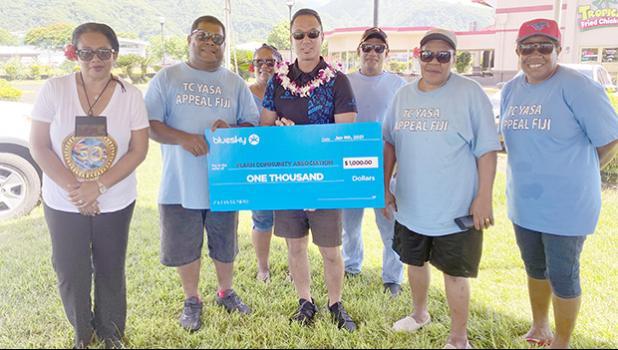Bluesky donates $1,000 check to Fijian community