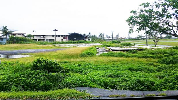 Pictured is the exact location where the proposed youth center will be built.  [photo: Blue Chen-Fruean]