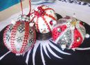 Three locally made Christmas ornaments