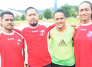 Nicky Salapu and Jaiyah Saelua with other American Samoa players