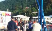 Weighing in the catch during the 2012 Steinlager International I'a Lapo'a Tournament in Pago Pago, American Samoa. [SN file photo/JD Hall]