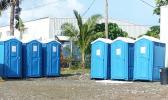 Portable toilets at Nuuuli Vo-Tech