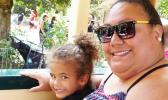 Savanda Taupau from Leone with her daughter