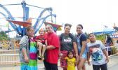 Samoan families enjoy theme park